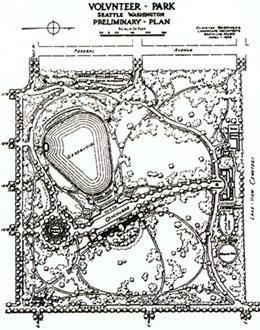 the original design for Capitol Hill's Volunteer Park